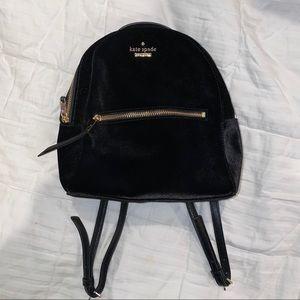 Kate Spade velvet mini backpack